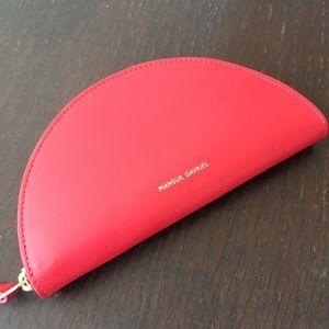 Mansur Gavriel Mini Moon Wallet Red Leather